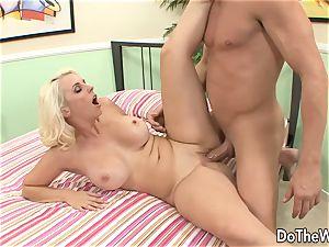 blondie milf takes meaty spunk-pump in front of spouse