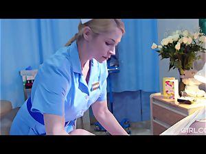 GIRLCORE sapphic Nurses Give teenager Patient Vaginal exam