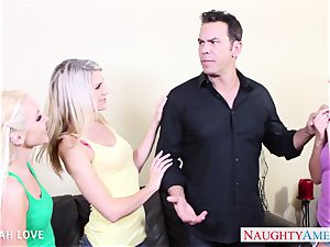 luxurious Aaliyah love screwing in foursome