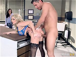 physician Christie Stevens displays just how assfuck is done