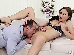 Housewife creampied after railing sausage