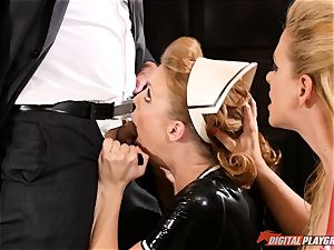 vulva beating the mischievous fuck-a-thon victim maid Britney Amber