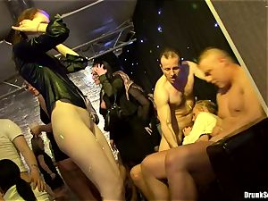 Bibi Fox with beauty pals filled with hot jizz
