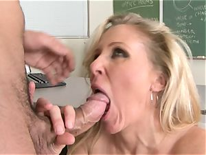 Julia Ann is a hard-core cougar who wants to put her poon on a rigid pecker