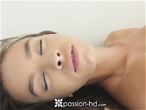 PASSION-HD sensual yoga jizz face flow