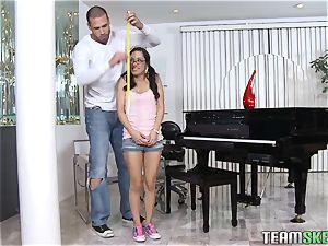ExxxtraSmall smallish latina teen Tia Cyrus tight snatch h