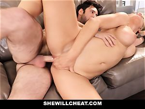 SheWillCheat hotwife wife Gags on beef whistle