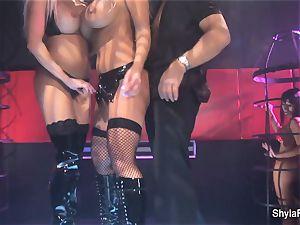 big-boobed Shyla Stylez gets down in a steamy threesome