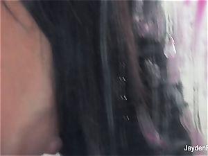 Jayden Jaymes caresses her wet cunny