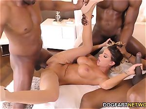 Brooklyn chase multiracial group sex