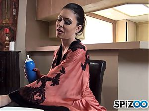 wood and testicle tonic is the ideal breakfast for Jessica Jaymes