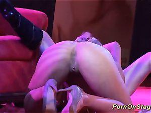 ultra-kinky lesbian fucky-fucky showcase on public stage